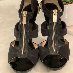 Micheal Kors Black Patent Leather Berkeley Heels